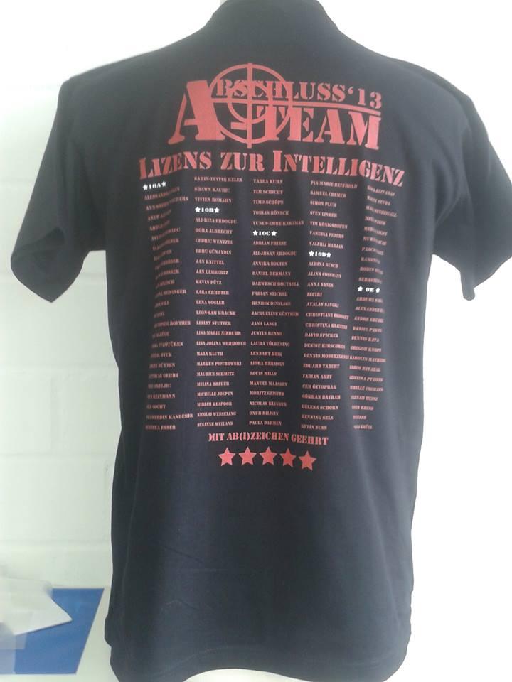 Abschluss T-Shirt bestellt,Text fehlerhaft (Recht, Firma