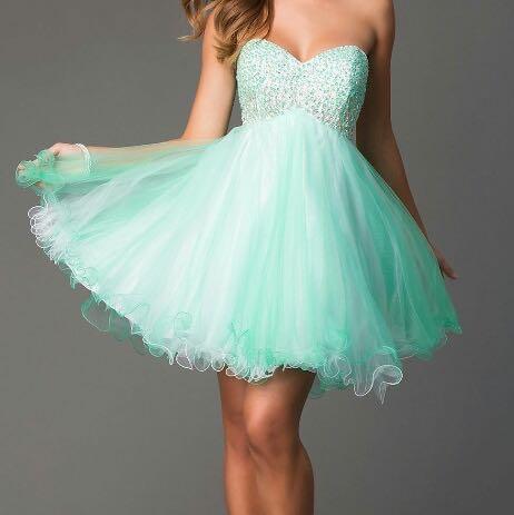 Cocktailkleid, kurz-knielang, muss nicht diese farbe haben... - (Kleid, Abschlussball,  Cocktailklei)