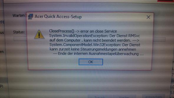 Erste Meldung - (Computer, Acer, deinstallieren)