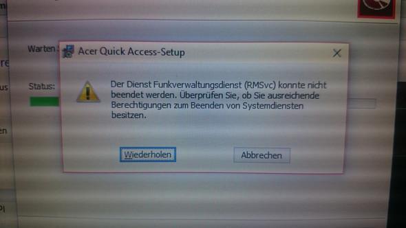 Zweite Meldung - (Computer, Acer, deinstallieren)