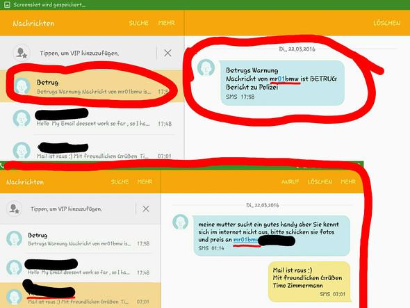 Screenshot Verlauf - (Ebay, Betrug, Warnung)