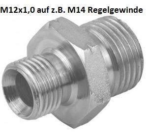 Adapter M12x1,0 auf M14 Regelgewinde?