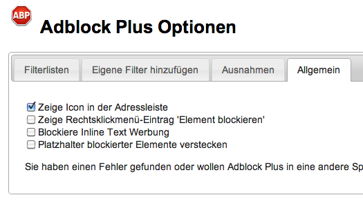 adblock plus chrome einstellungen - (google-chrome, adblock plus chrome)