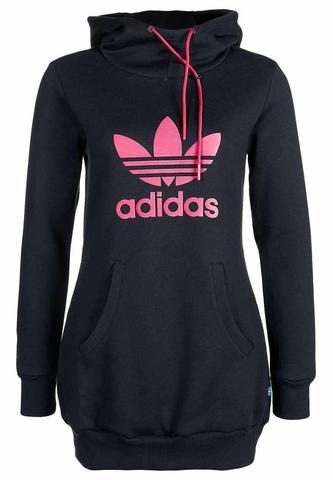 Adidas Long Pullover Mit Durchsichtiger Strumpfhose Kombinieren