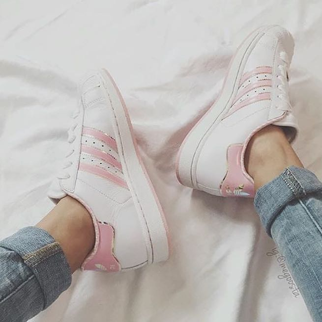 adidas superstar weiß rosa gold
