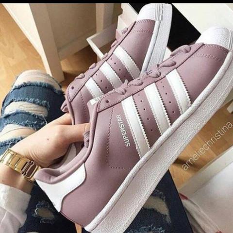 adidas superstar weiß lila