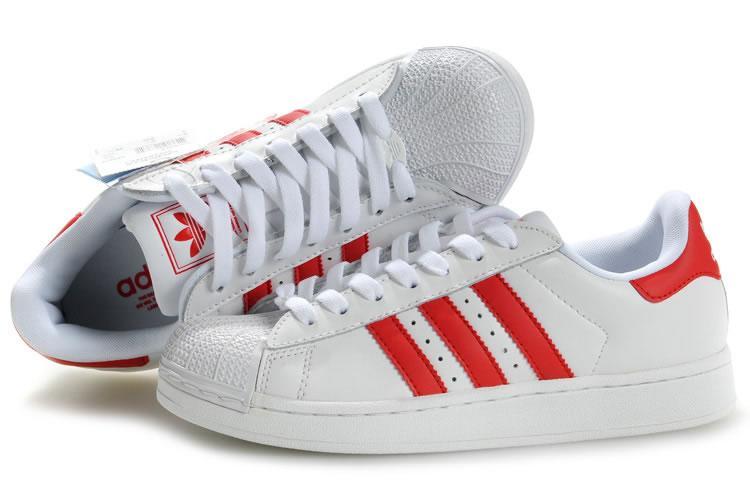 Adidas Superstar Weinrot Weiss