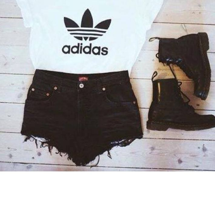 adidas t shirt mädchen schwarz weiß