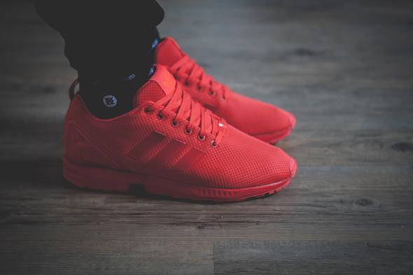 ... adidas zx flux all red - (Schuhe, Klamotten, adidas)