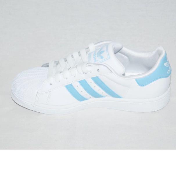 adidas schuhe weiß blauen streifen