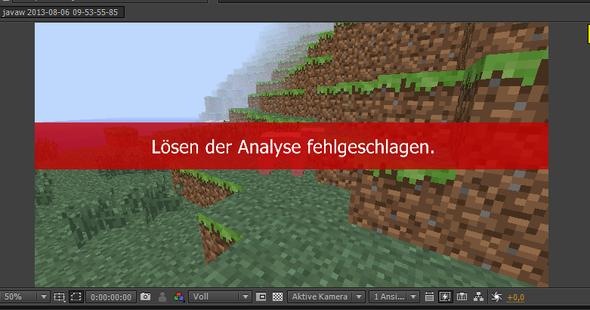 Lösen der Analyse fehlgeschlagen Adobe After Effekts CS6 - (Adobe, Effekte, Analyse)