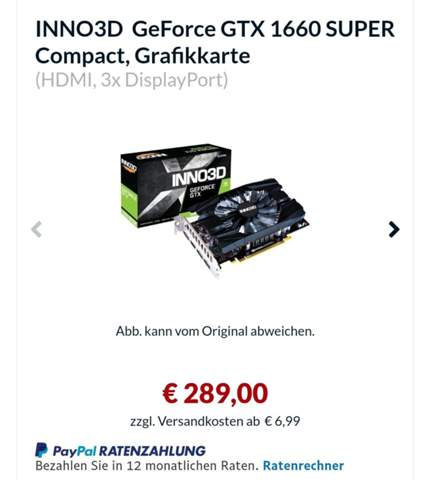 Ähnliche Grafikkarte wie die GeForce GTX 1660?