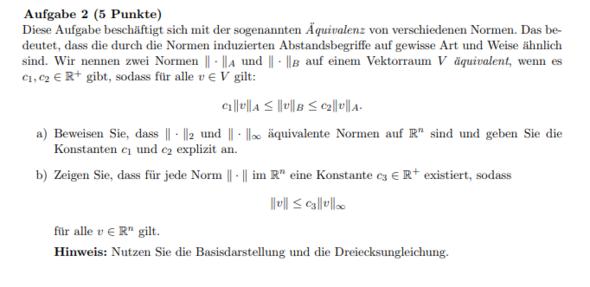 Äquivalenz von verschiedenen Normen - Lineare Algebra? (Mathe ...