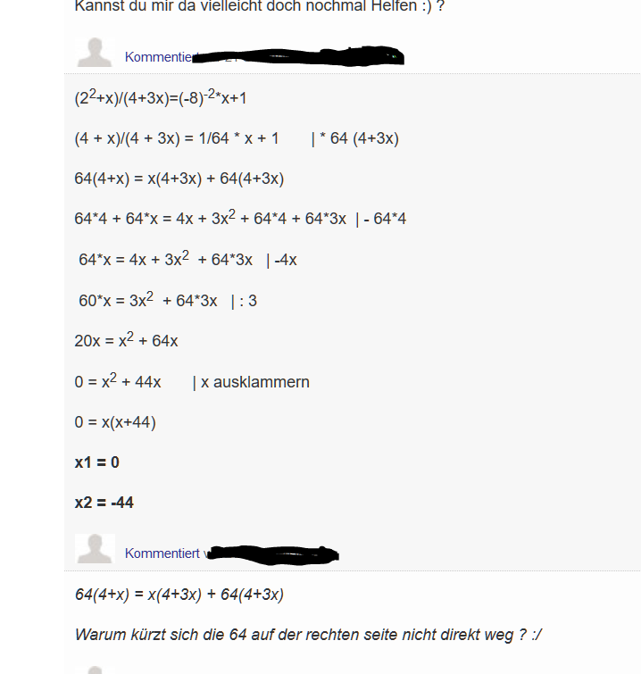 Äquivalenzumformung Bruch, Gleichung Auflösen ? (Mathe, Mathematik, Algebra)