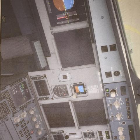 Schwarz und nicht funktions fähig  - (cockpit, Aerosoft, A320)