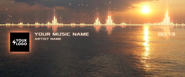 Equalizer mit Ocean Hintergrund. - (after-effects, Animieren, ocean)
