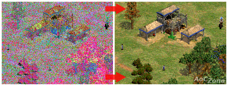 Age of empires collector's edition displays weird colors windows.