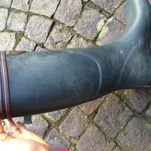 fleckige stiefel - (Gummistiefel, Kautschukstiefel, Aigle-Pflege)