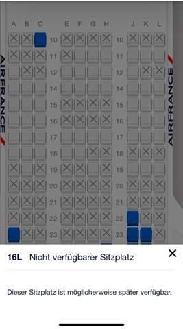 Air France online check in Sitzplatz?