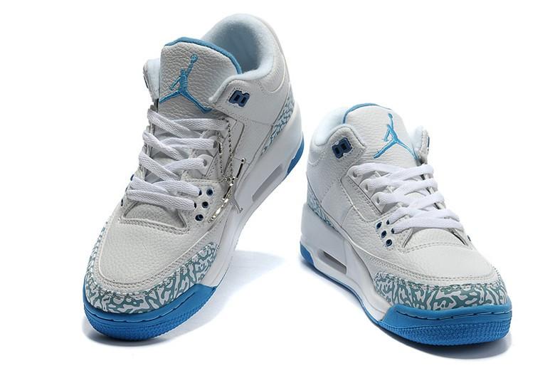 Nike Air Jordan Weiß Blau
