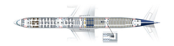 Airbus A340-600 letzte Reihe Sitzlehnen verstellbar?