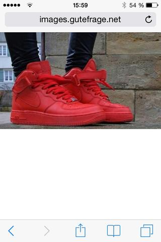 Rote airforce - (Schuhe, Nike,  Red october )