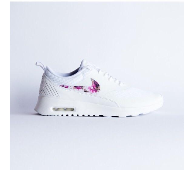Nike Air Max Thea Weiß Blumen