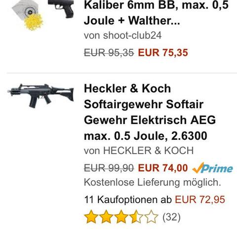 Hier die 2 verschieden oben und unten die billigen in der Mitte die teurere  - (Waffen, Softair, Airsoft)