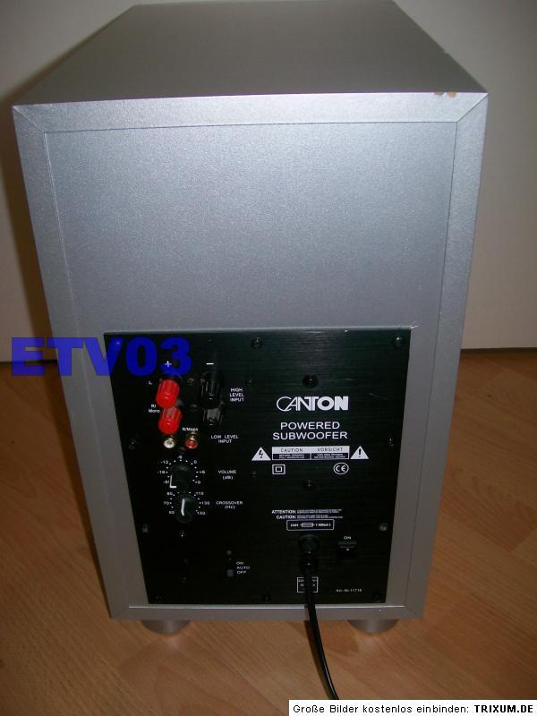 aktiven canton subwoofer an jvc receiver anschlie en. Black Bedroom Furniture Sets. Home Design Ideas