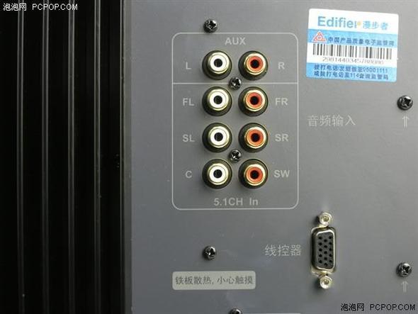 Backpanel des Edifier S550 Subwoofers - (Subwoofer, AV Receiver)