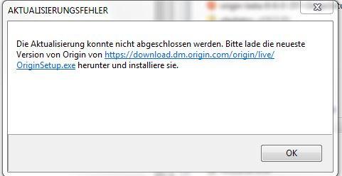 AKTUALISIERUNGSFEHLER - (Software, Origin, aktualisierungsfehler)