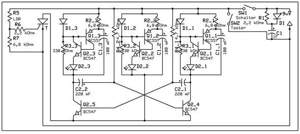 Schaltplan der Alarmanlage - (Elektronik, Schaltplan, Alarmanlage)