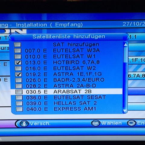 TV menü - (TV-Sender, Fernseher einstellen)