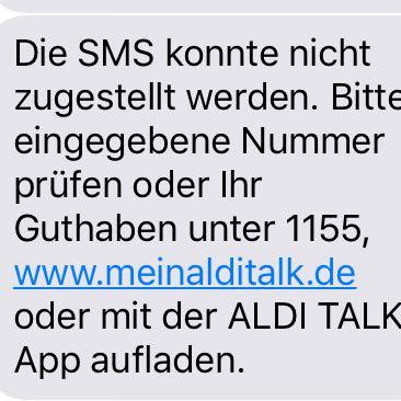 Die Nachricht  - (iPhone, ios, ALDI)