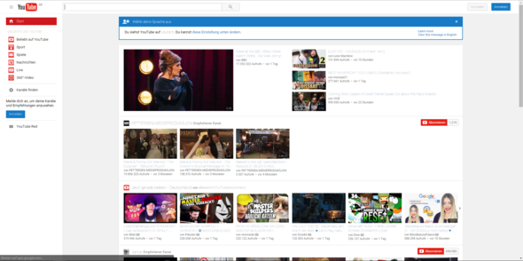 Momentanes Seitenaussehen - (Youtube, Internetseite, Fehler)