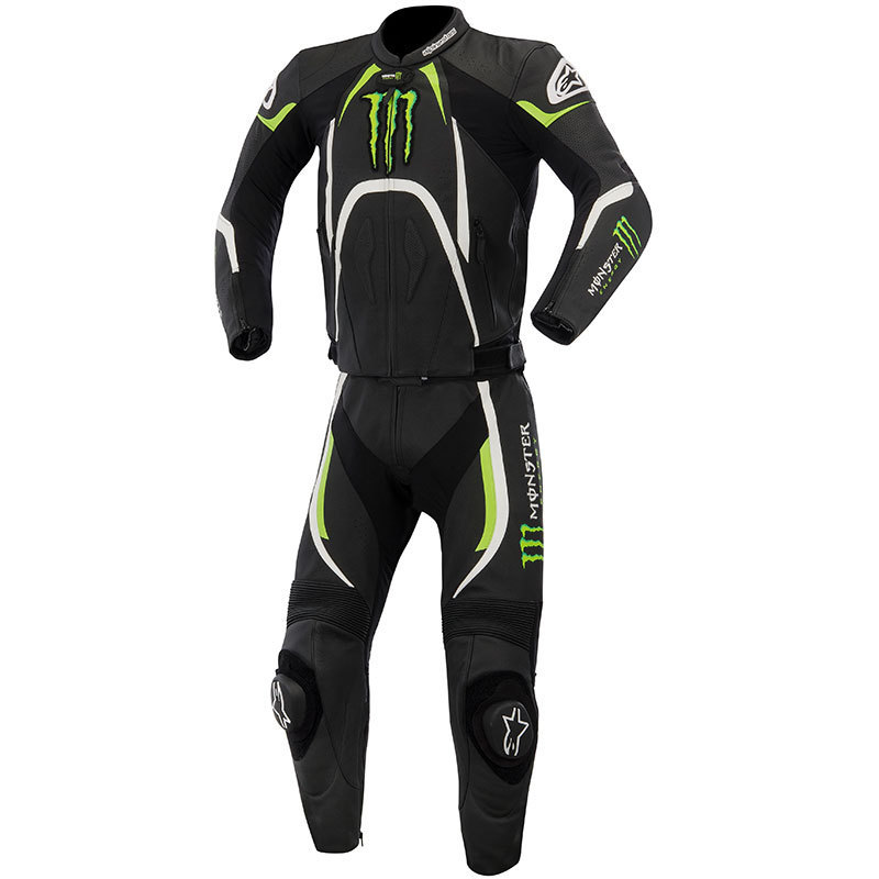 alpinestars lederkombi monster energy in damengr e motorrad. Black Bedroom Furniture Sets. Home Design Ideas