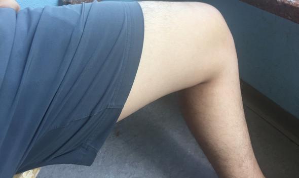 Hose dicke oberschenkel mann