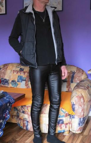 Mannin Kunstlederhose - (Männer, Leggings, Kunstlederhose)