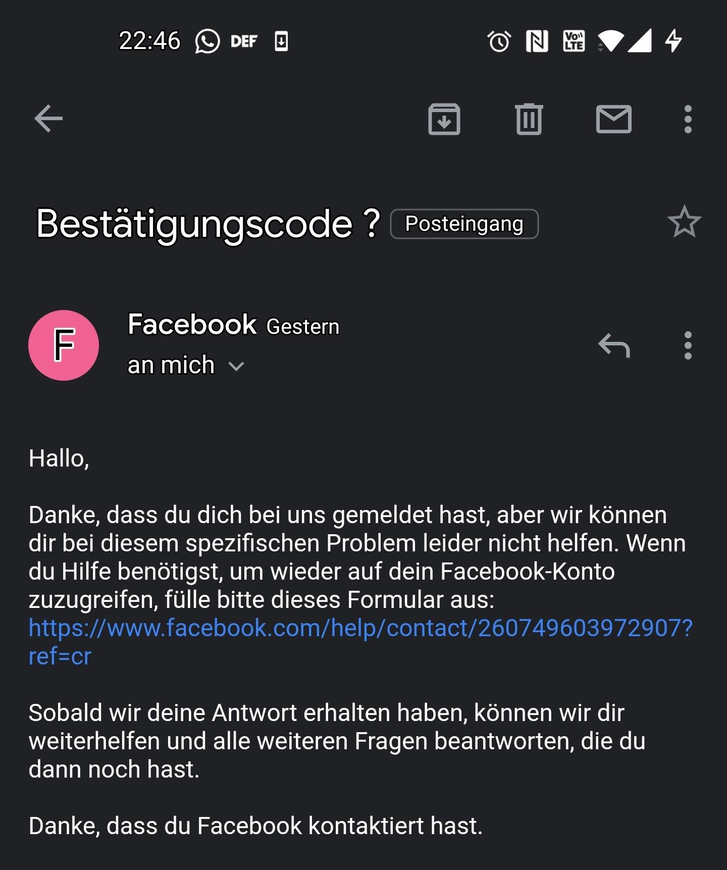 Facebook Handynummer