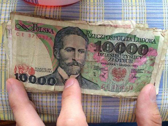 10000er Schein - (Euro, Polen, Währung)
