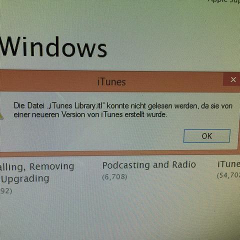 itunes fehler von der version 12.1.3.6 - (iPhone, iTunes, Update)