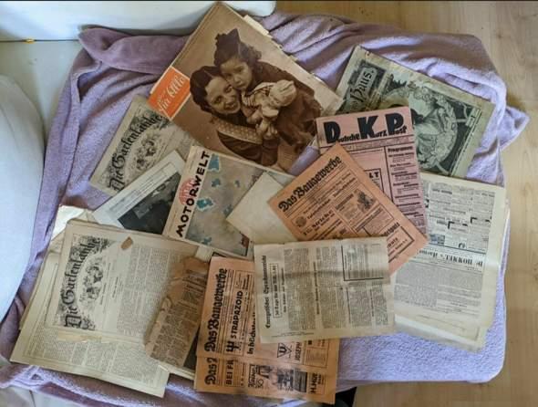 Alte Zeitungen Vorkrieg etwas Wert?