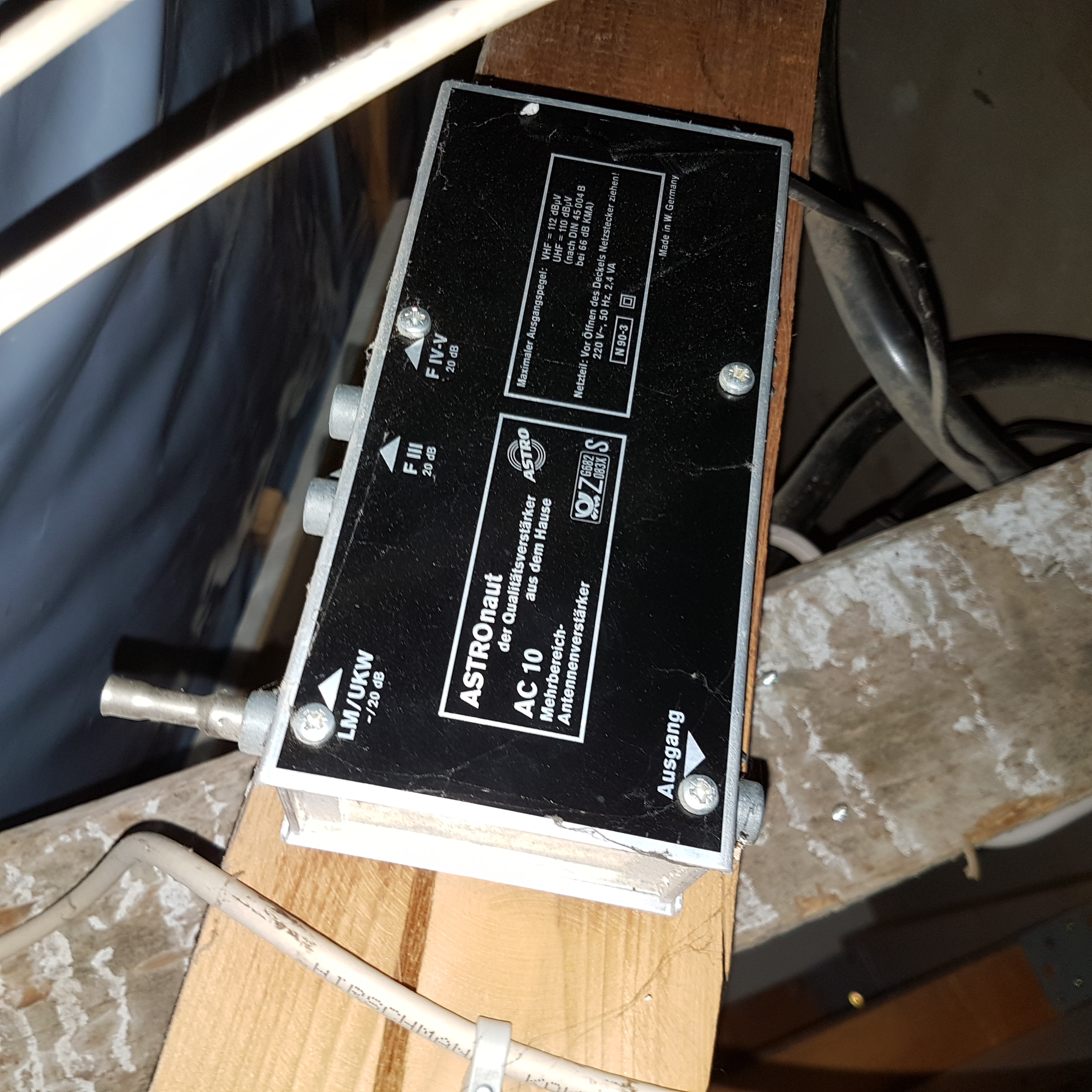 alten antennenverst rker f r dvb t2 nutzen technik film. Black Bedroom Furniture Sets. Home Design Ideas