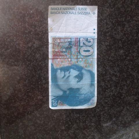 Alter 20 Franken Schein Geld Banknoten Schweizer Franken