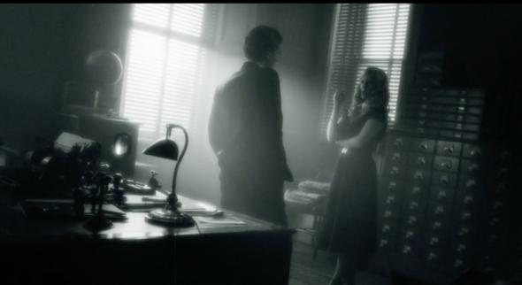 Der Ausschnitt - (Film, alt, schwarz-weiß)