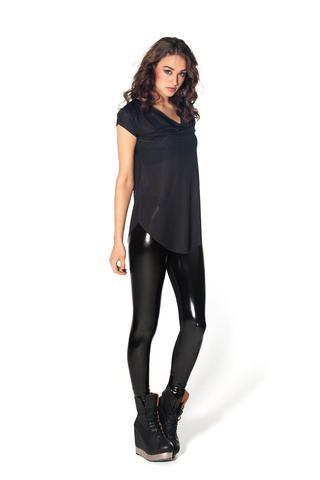 New Slicks Leggings (Black Milk) - (Hose, Alternative, Leggings)