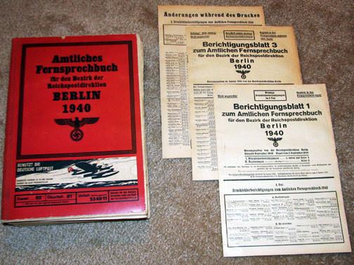 Fernsprechbuch - (Geschichte, Deutschland, Krieg)