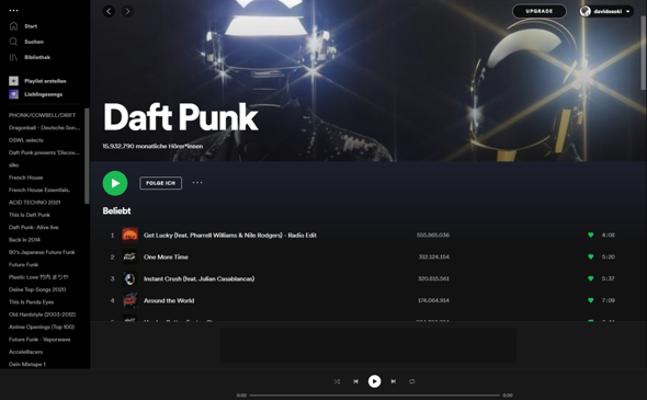Altes Spotify design wie?
