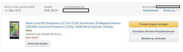 Bestellung - (Internet, Amazon, Shop)