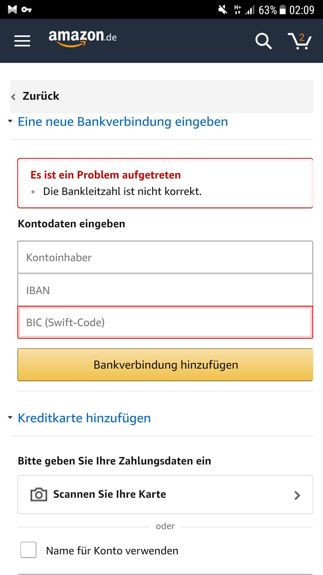 Amazon Pay Funktioniert Nicht